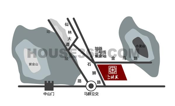 紫金上林苑交通图