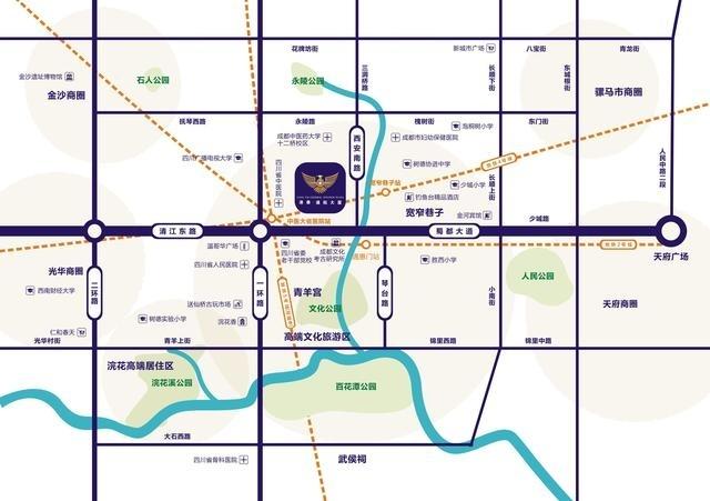 港泰通航大厦交通图