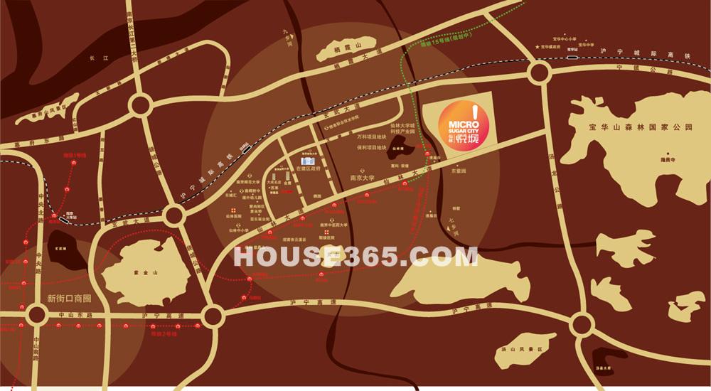 仙林悦城交通图
