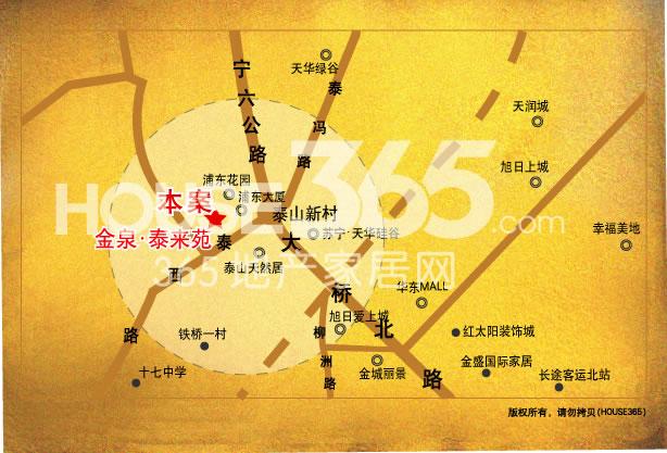 泰来苑交通图