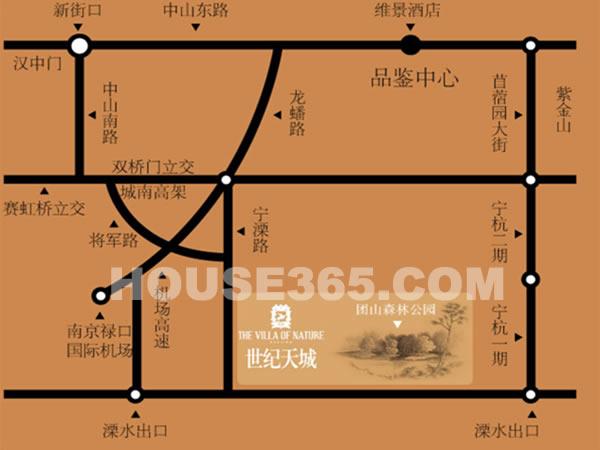 世纪天城交通图