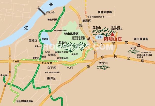 阳明山庄交通图