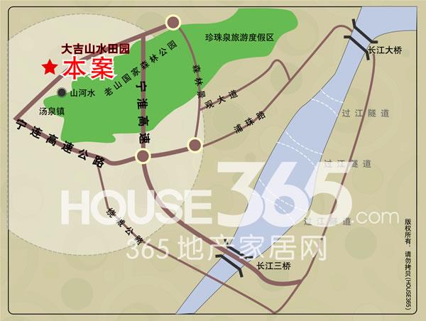 大吉山水田园交通图