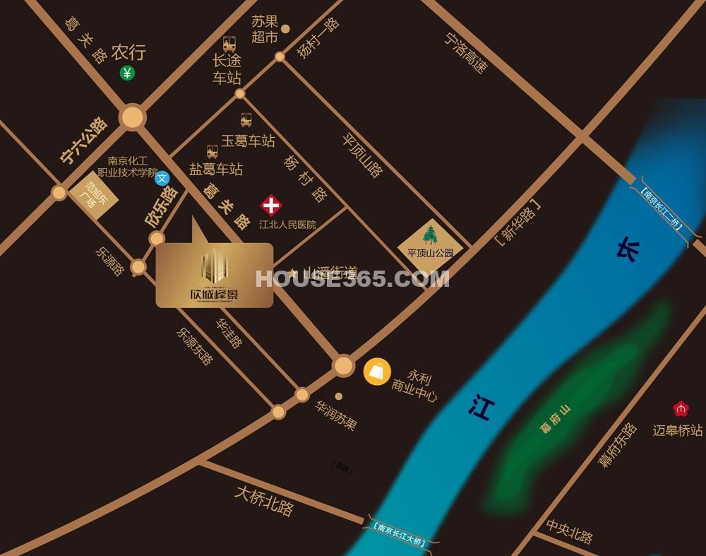 欣城峰景交通图