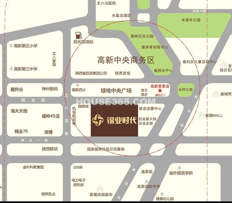 锦业时代交通图