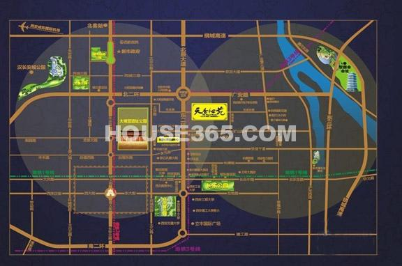 天香心苑交通图