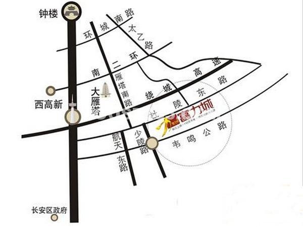 富力城区位图