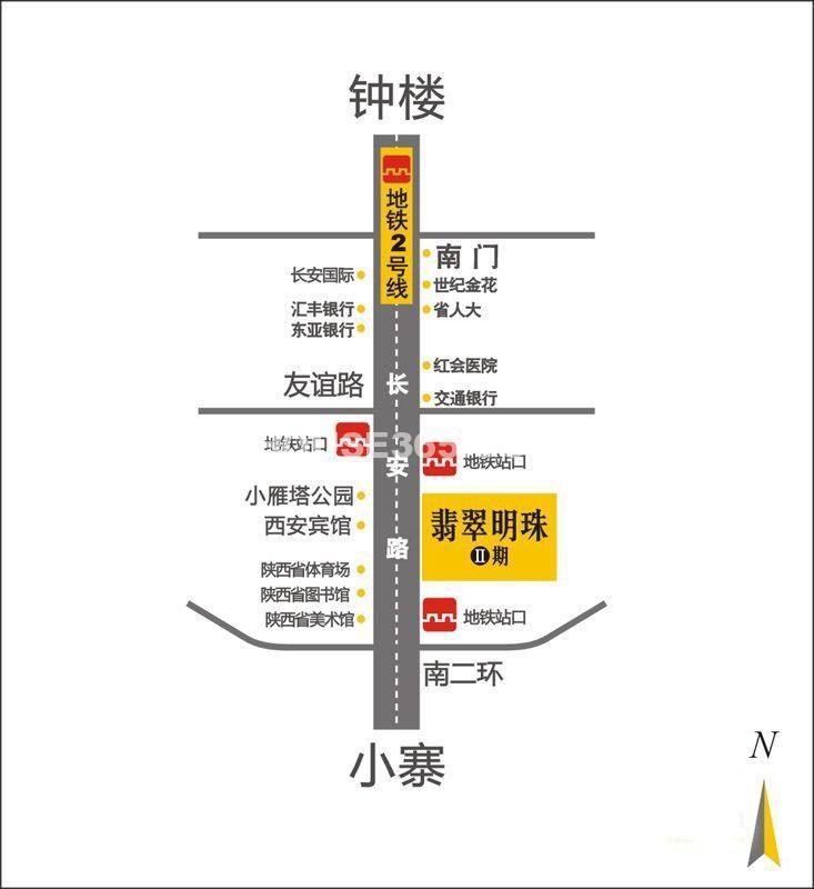 翡翠明珠二期交通图