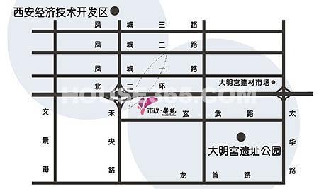 市政馨苑交通图