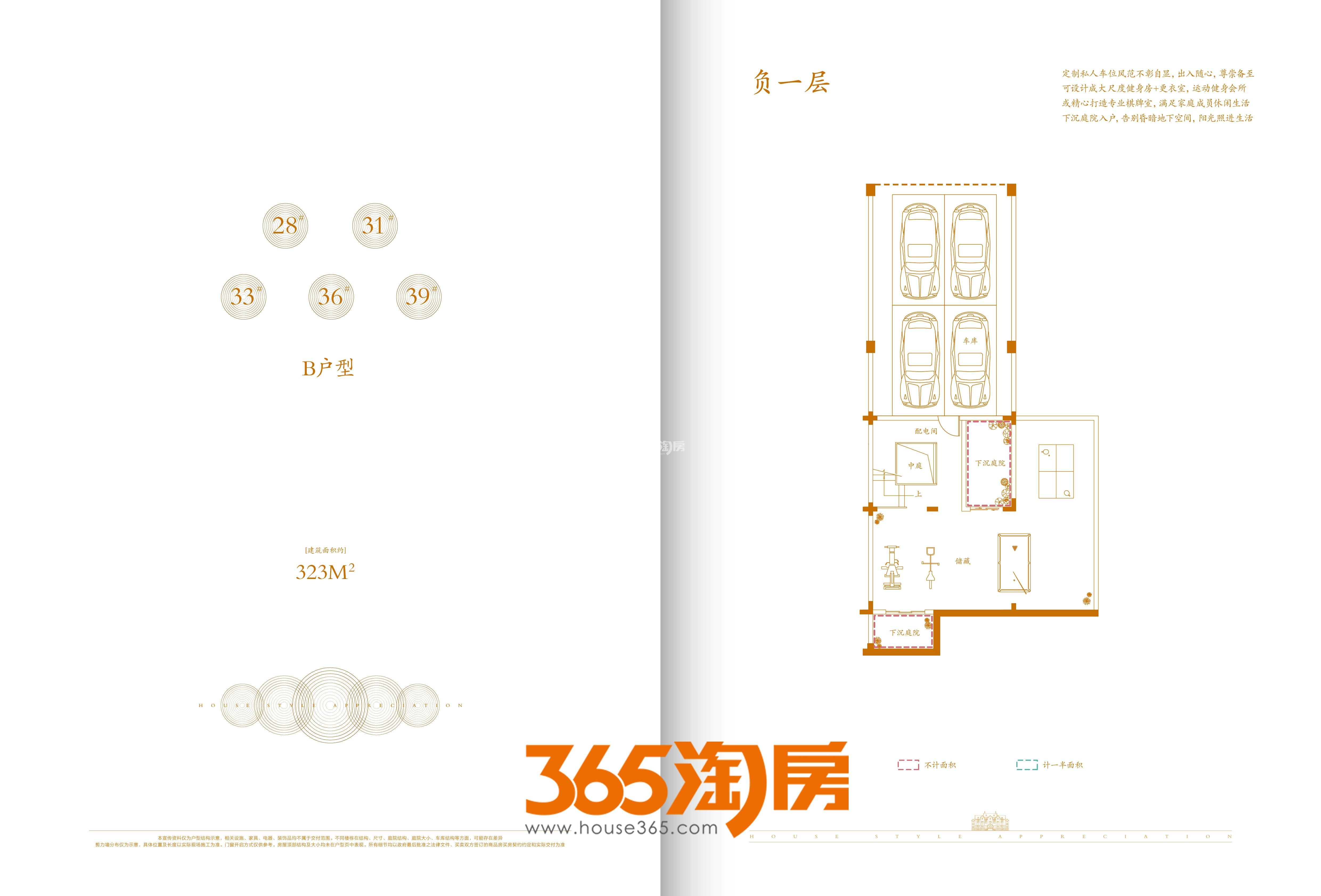 合肥云谷别墅323㎡负一层户型图