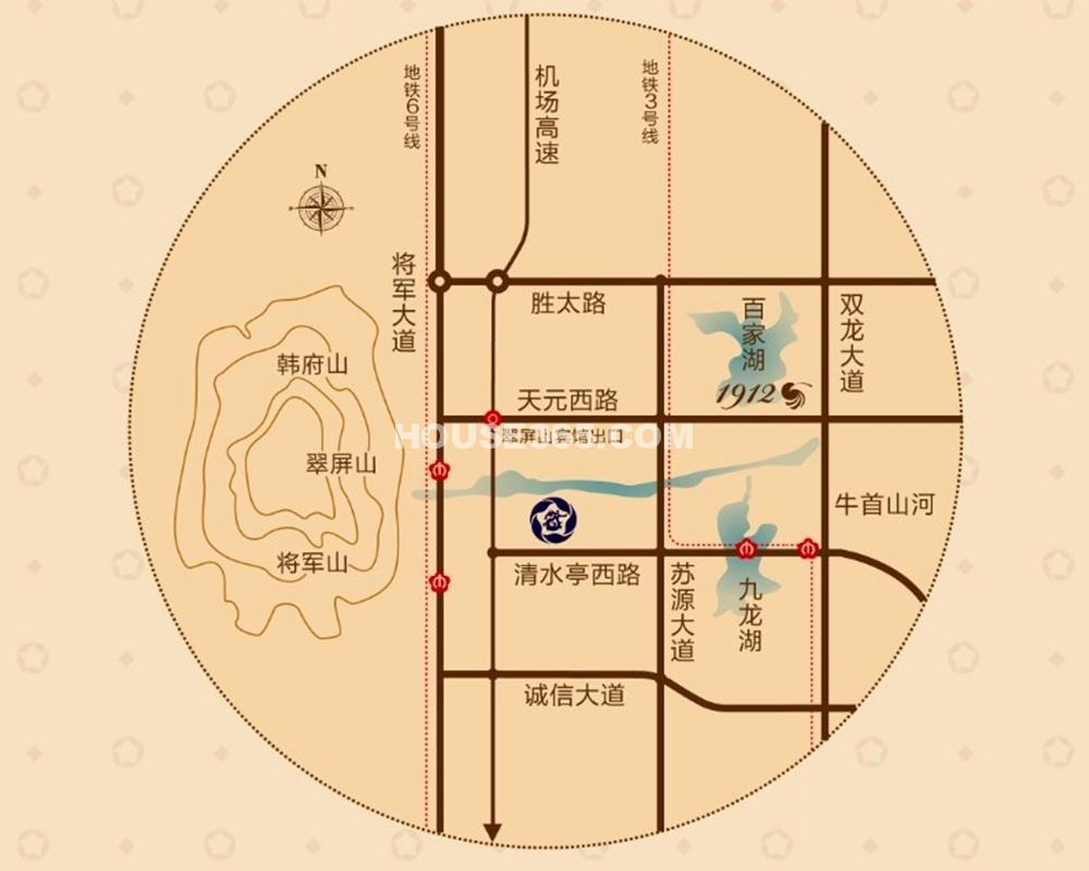 藏龙御景交通图