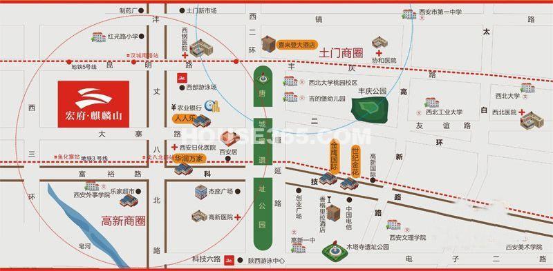 宏府麒麟山交通图