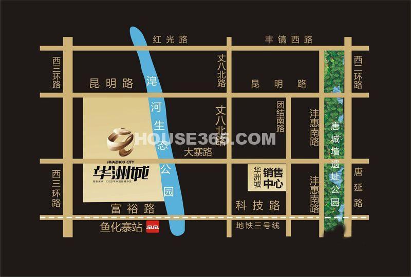 华洲城交通图