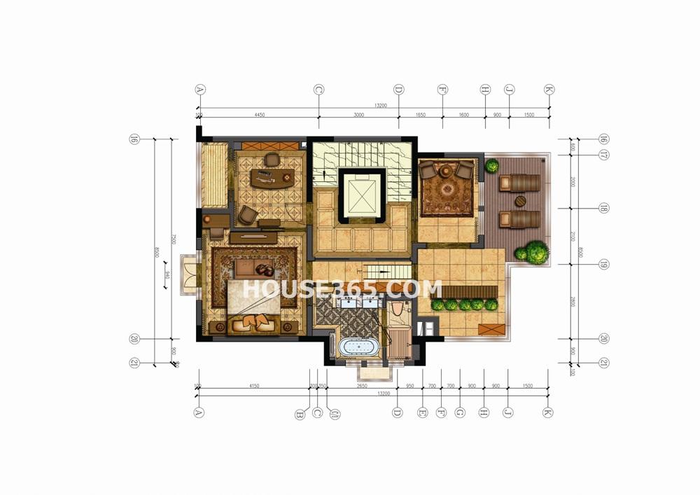 郦城御园联排别墅376㎡ 3层(8.9)