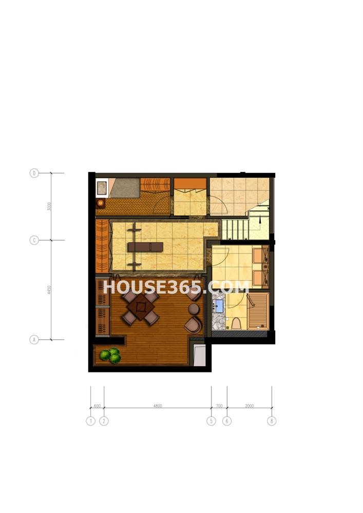 郦城御园下层叠加别墅 -1层(8.9)