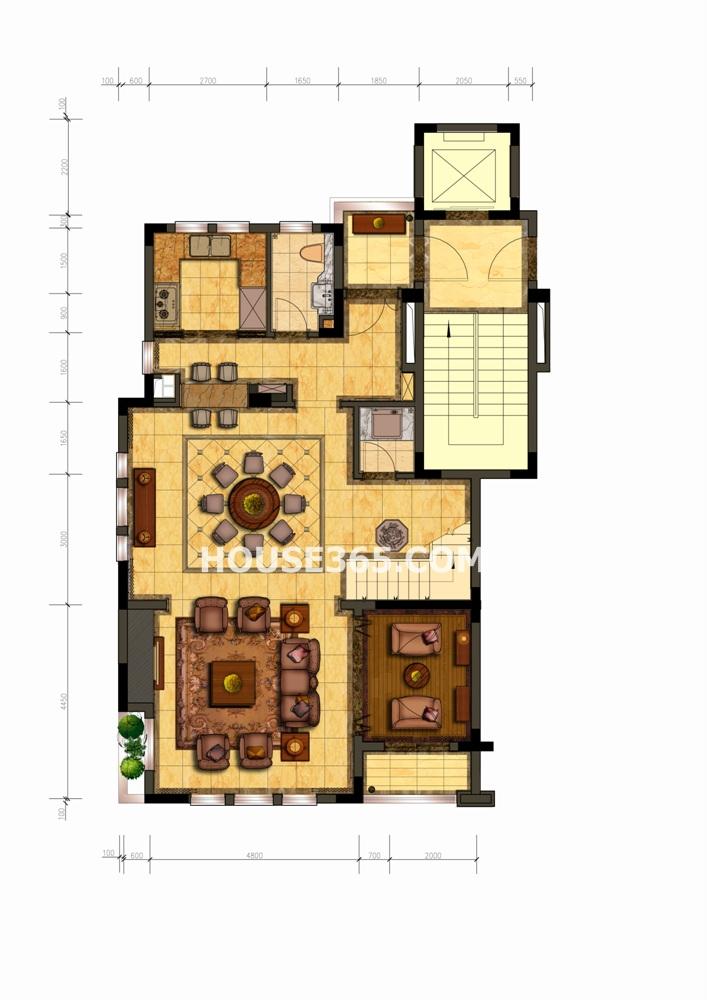 郦城御园上层叠加别墅 1层(8.9)