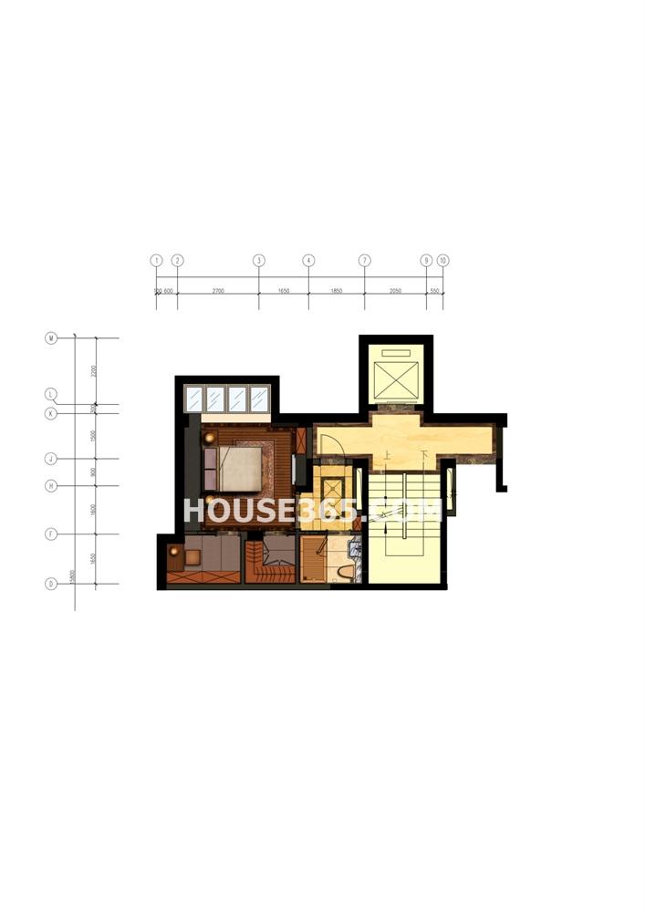 郦城御园上层叠加别墅 -1层(8.9)