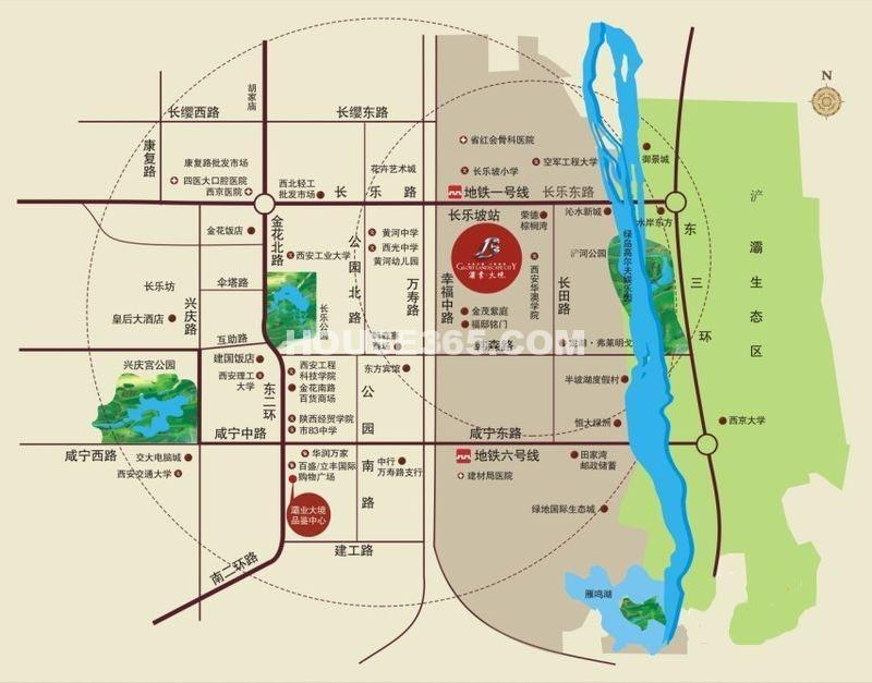 灞业大境交通图