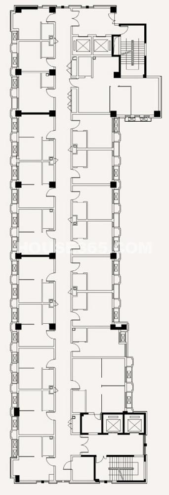 项目A栋办公标准层平面图(8.14)