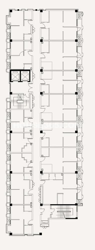 项目B栋住宅标准层平面图(8.14)
