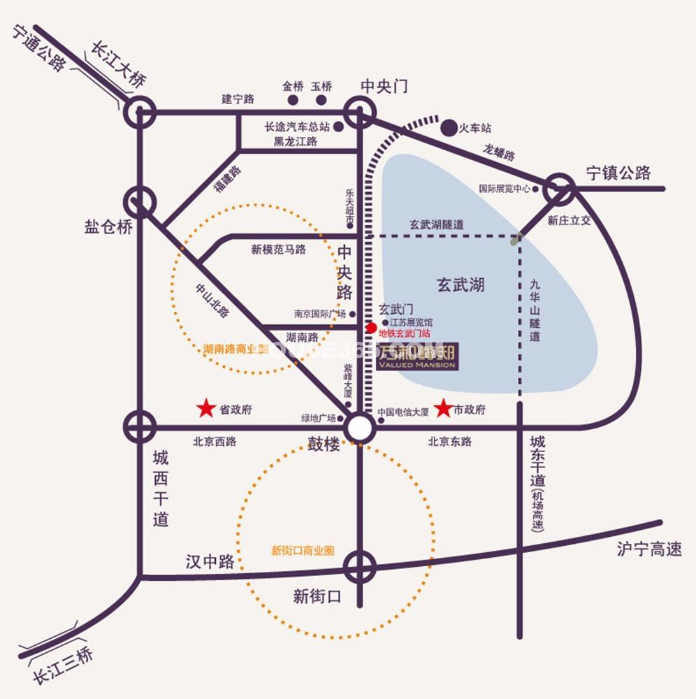 万和尊邸交通图