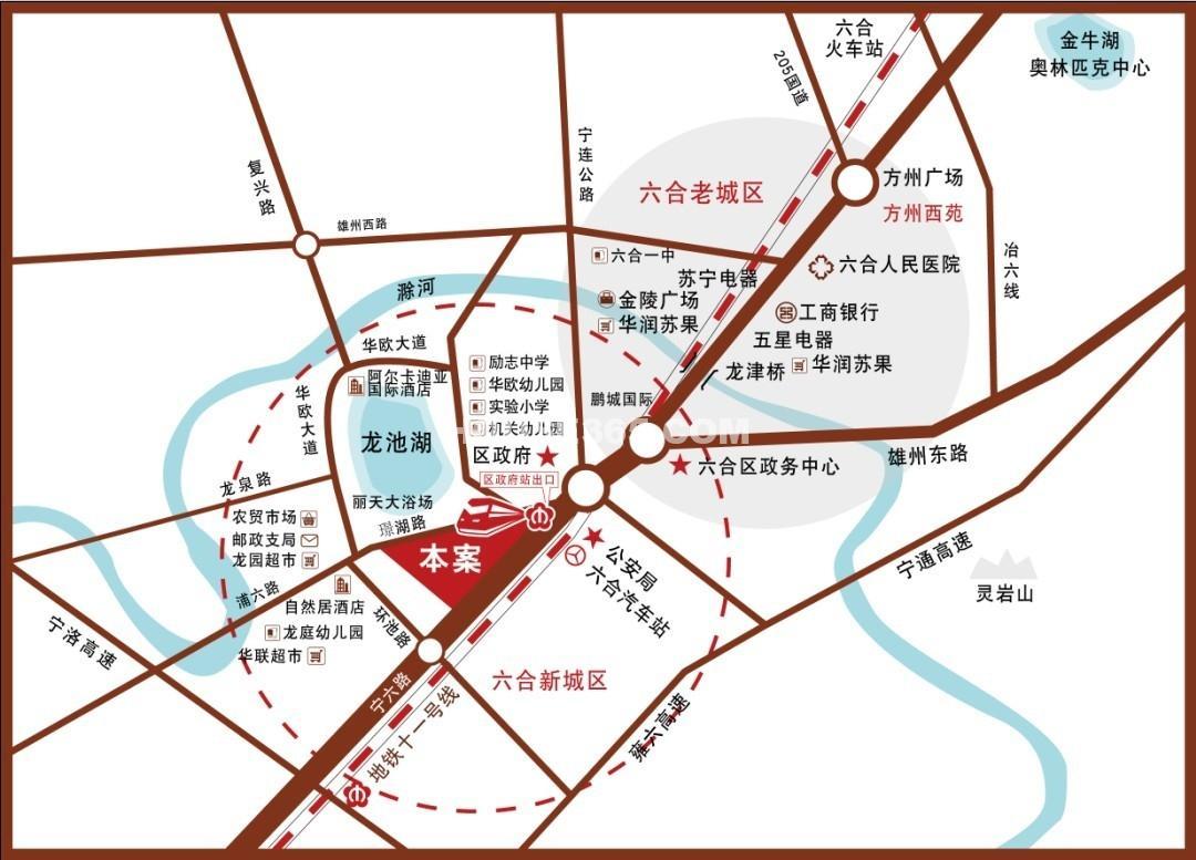 璟湖国际交通图