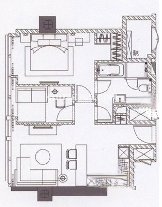 2#6-38层B7户型1室1厅1卫