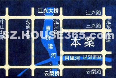 东方海悦花园交通图