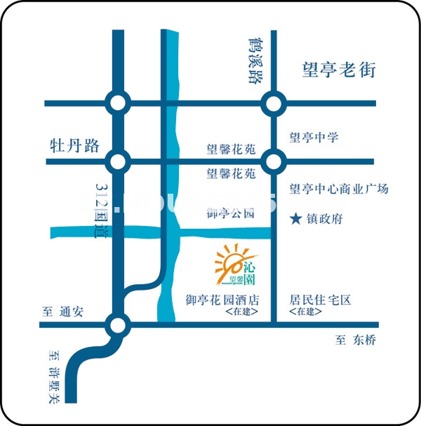 御亭水岸交通图