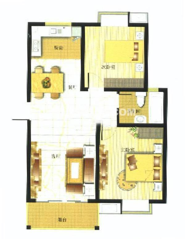 御亭水岸A22室2厅1卫1厨83.50㎡