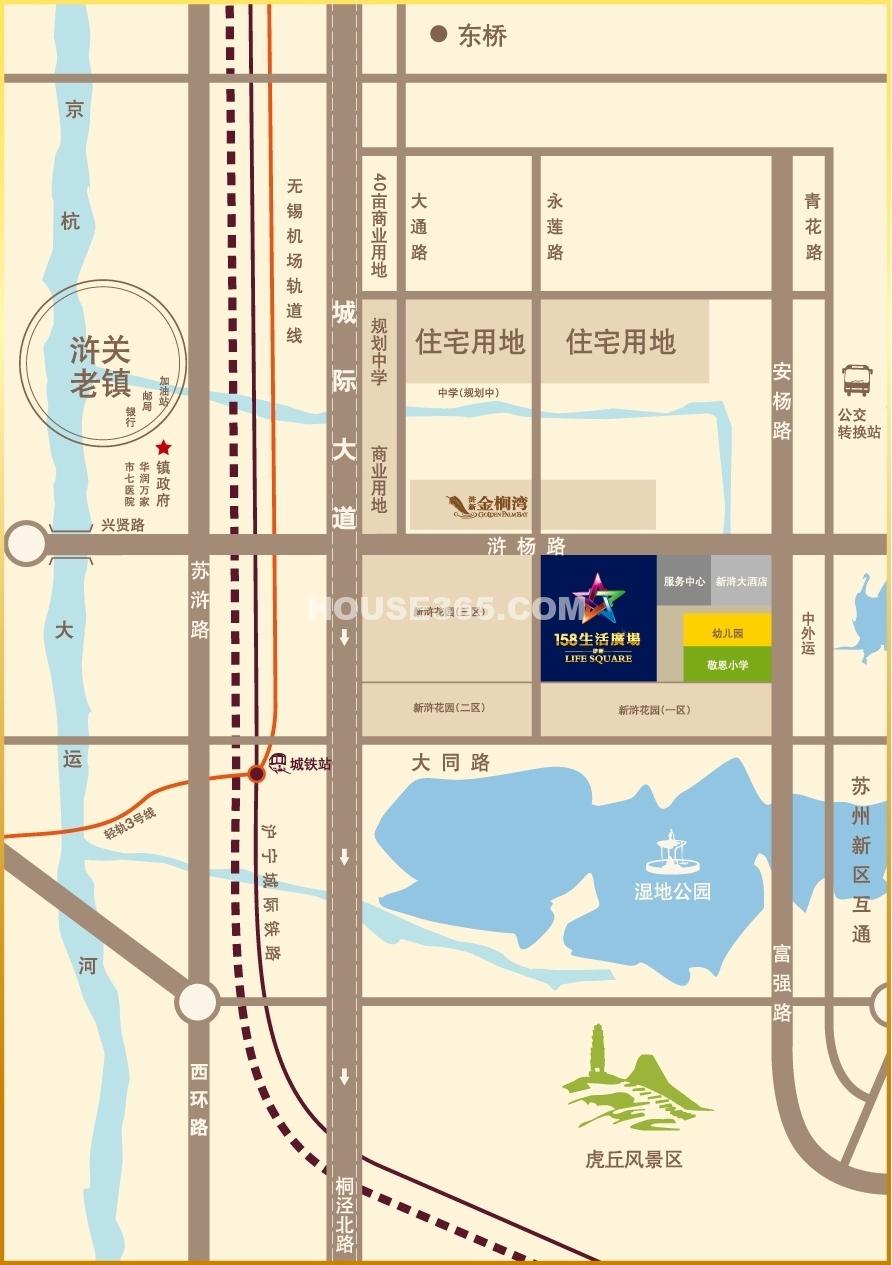 158生活广场交通图