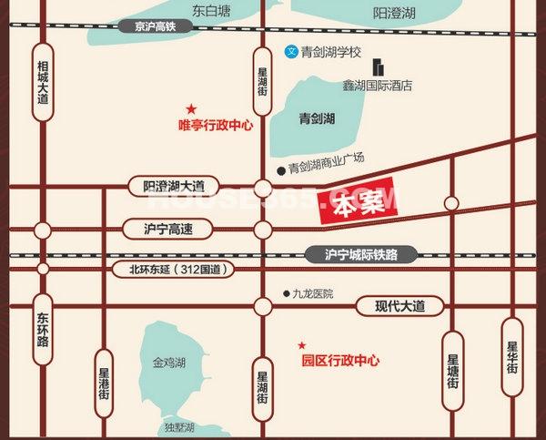 青剑湖公馆交通图