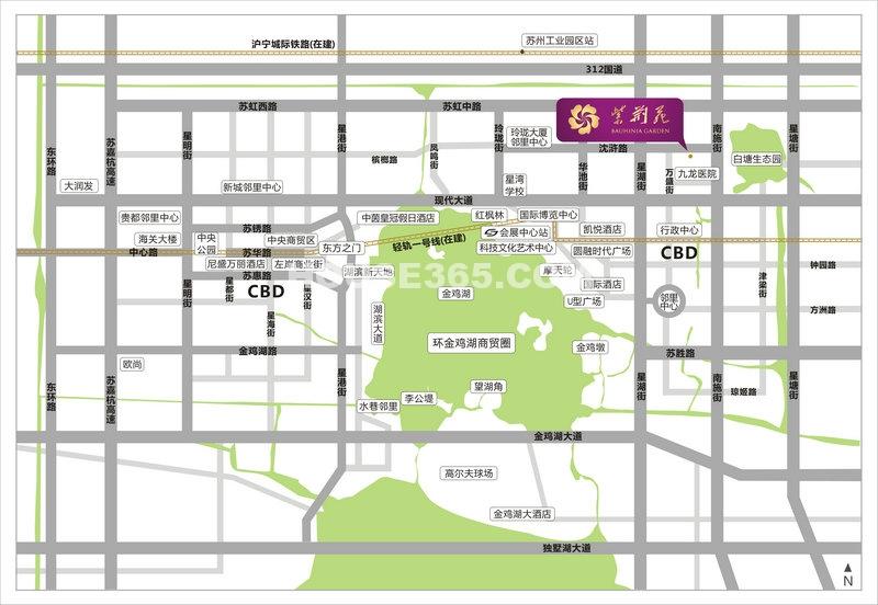 紫荆苑交通图