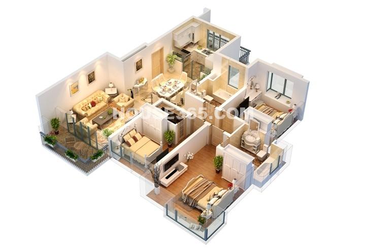 B1户型 3房2厅2卫