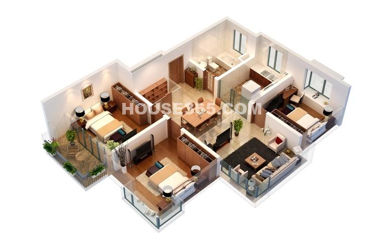 A户型 2房2厅1卫