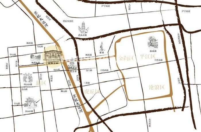 金科王府交通图