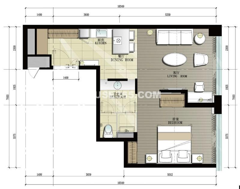 晋合公寓户型图
