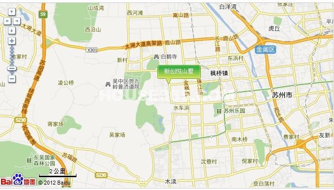 苏高新悦山墅交通图