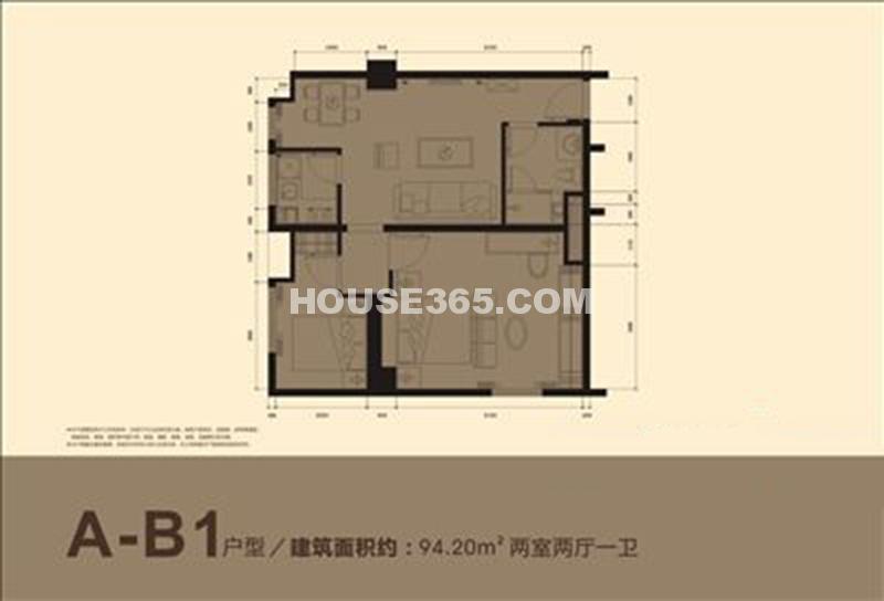 小寨金莎A-B1户型图