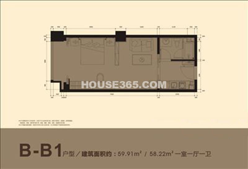 小寨金莎B-B1户型图