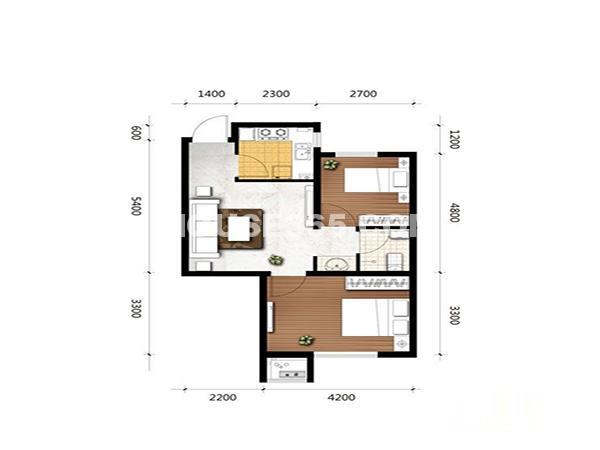瑞家景峰2室2厅1卫62.34㎡