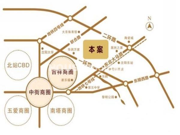 金地铂悦交通图