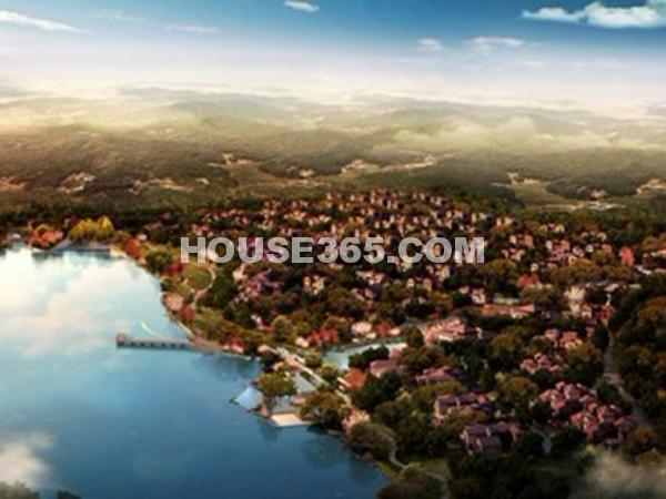 伴山湖鸟瞰图