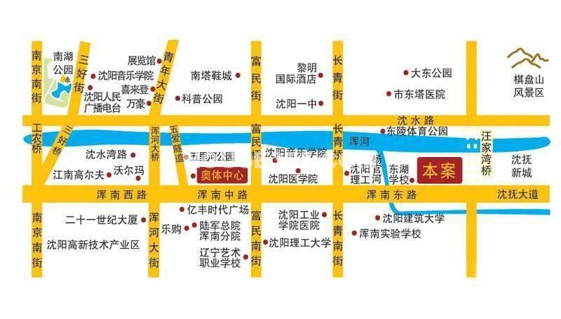沈阳恒大江湾交通图