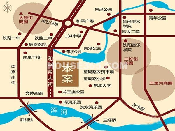 沈阳雅宾利花园二期交通图