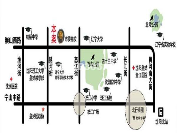 沈阳大学经典交通图