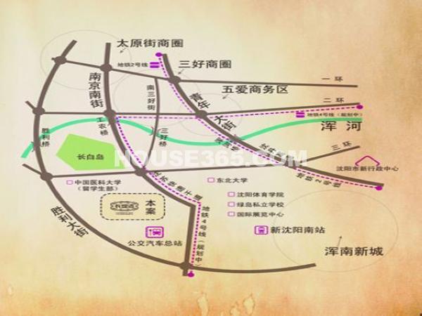长堤湾交通图