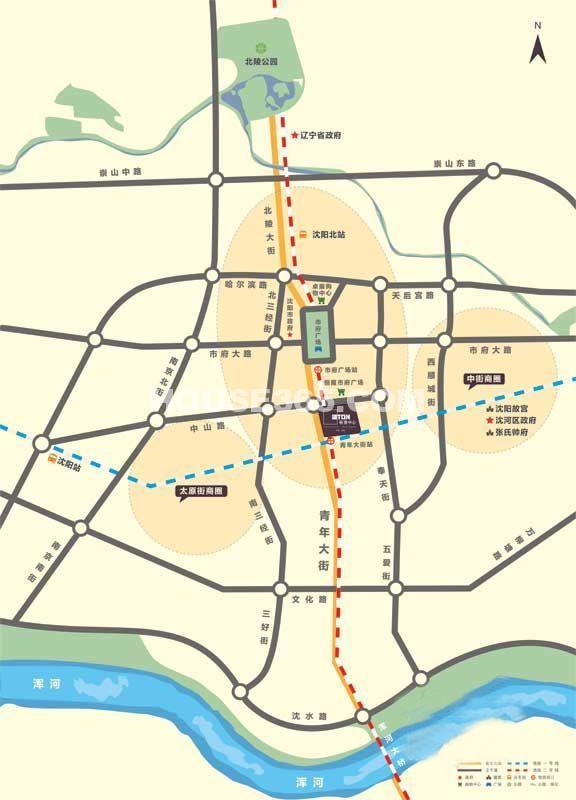 裕景中心交通图