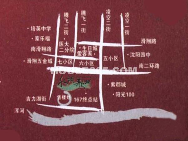 永盛水调歌城交通图
