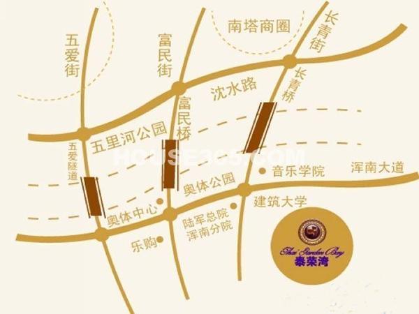 泰荣湾交通图